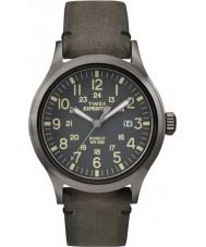 Timex TW4B01700 メンズ遠征類似体は茶色の時計を上昇します