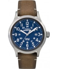 Timex TW4B01800 メンズ遠征アナログ上昇日焼け革ストラップの時計