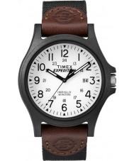 Timex TW4B08200 メンズ遠征茶色のファブリックストラップ時計