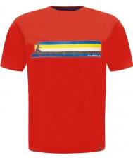 Dare2b DMT322-65740-XS メンズマルチバンド燃えるような赤いTシャツ - サイズXS