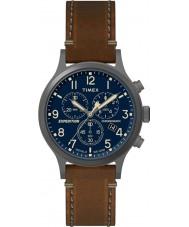 Timex TW4B09000 メンズ遠征ブラウンレザーストラップの腕時計