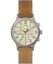Timex TW4B09200 メンズ遠征日焼けレザーストラップの腕時計