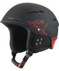 Bolle 31211 B-楽しいソフト黒と赤のスキーヘルメット -  54〜58センチメートル