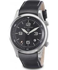 Elliot Brown 202-012-L02 メンズ山岳救助版は、追加の織り黒バリスティックナイロンストラップと黒の時計をcanford