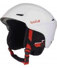 Bolle 30644 シャープな柔らかい白いスキーヘルメット -  58-61cm