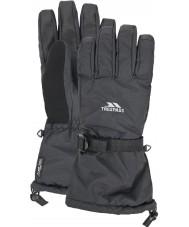 Trespass UAGLGLH20002-XS メンズオクタン黒手袋 - サイズXS