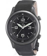 Elliot Brown 202-004-R06 メンズcanfordマットブラックレザーストラップの腕時計