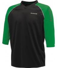 Dare2b メンズはブラックのグリーンジャージーTシャツでダイヤル