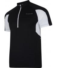 Dare2b DMT136-80040-XS メンズは、黒のジャージーのTシャツを興奮させる - サイズXSを