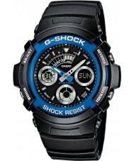 Casio AW-591-2AER メンズG-SHOCKブラックのクロノグラフスポーツウォッチ
