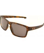Oakley Oo9262-03スライバーマットブラウンべっ甲 - 暖かいグレーサングラス