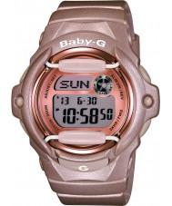 Casio BG-169G-4ER レディースベビーグラムのtelememoワールドタイムピンクの樹脂ストラップ時計