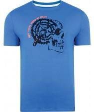 Dare2b DMT324-9PR40-XS メンズギヤヘッドスカイダイバー、青Tシャツ - サイズXS
