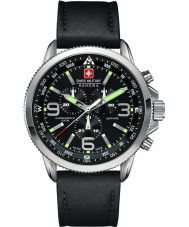 Swiss Military 6-4224-04-007 メンズクロノ黒の時計を矢印します