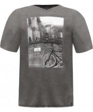 Dare2b メンズスナップショットグレーマーシャルTシャツ