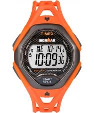 Timex TW5M10500 メンズは、洗練されたオレンジ色の樹脂ストラップ時計をIRONMAN