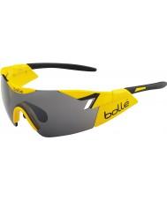 Bolle 第六感光沢のある黄色、黒TNSガンサングラス