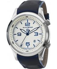 Elliot Brown 202-001-L06 メンズはブルーレザーストラップ時計をcanford
