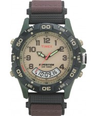 Timex T45181 メンズクリームブラウン遠征コンボ時計