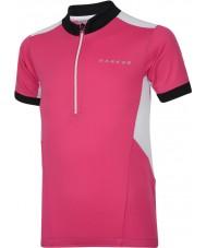 Dare2b 子供のホットフットの電動ピンクのジャージーTシャツ
