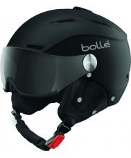 Bolle 31253 グレーバイザー付きバックラインバイザーソフトブラックとシルバーのスキーヘルメット -  59〜61センチメートル