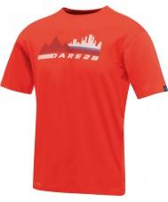 Dare2b Mensの街のシーン赤いTシャツ