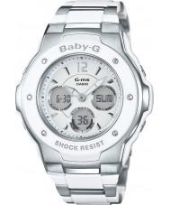 Casio MSG-300C-7B3ER レディースベビーGワールドタイム2トーンコンビ腕時計