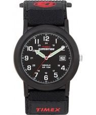 Timex T40011 メンズ黒キャンピングカー遠征時計