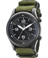 Elliot Brown 202-004-N01 メンズは緑の布ストラップ時計をcanford
