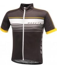 Dare2b DMT133-80040-XS メンズ気概黒ジャージーTシャツ - サイズXS