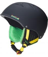 Bolle 30672 B-フリーソフト黒ラスタスキーヘルメット -  53〜57センチメートル