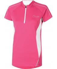 Dare2b 女性は電気ピンクのTシャツrevel