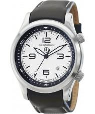 Elliot Brown 202-005-L02 メンズブラックレザーストラップの腕時計をcanford