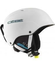 Cebe CBH174 コンテストのマットホワイトブルースキーヘルメット -  62〜64センチメートル