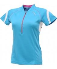 Dare2b DWT078-3FN12L レディースリフレッシュ青いジャージーTシャツ - サイズS(12)