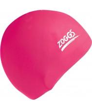 Zoggs 300604-PNK ピンクのシリコーンキャップ
