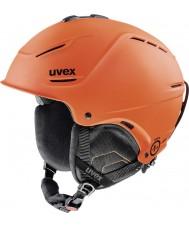 Uvex 5661538003 P1us濃いオレンジ色のマットスキーヘルメット -  52〜55センチメートル
