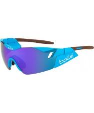 Bolle 光沢のある茶色の青紫色のサングラスag2r第六感