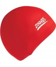Zoggs 300604-RED レッドシリコーンキャップ