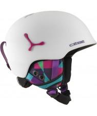 Cebe CBH188 サスペンスデラックスマットホワイトグラフィックスキーヘルメット -  54〜56センチメートル