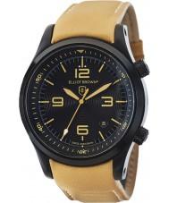 Elliot Brown 202-008-L04 メンズは、黄褐色の革ストラップの時計をcanford