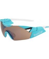 Bolle 第六感の光沢のある青の変調器は、銃のサングラスをバラ