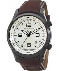 Elliot Brown 202-009-L05 メンズブラウンレザーストラップの腕時計をcanford