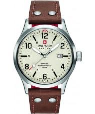 Swiss Military 6-4280-04-002-05 メンズアンダーカバーブラウンレザーストラップの腕時計