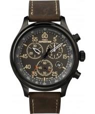 Timex T49905 メンズ黒茶色の遠征フィールドクロノグラフウォッチ