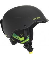 Cebe CBH99 コンテストバイザーマットブラックとグリーンスキーヘルメット -  55〜58センチメートル