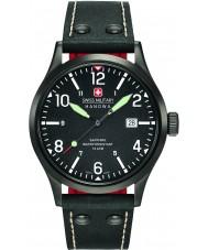Swiss Military 6-4280-13-007-07 メンズアンダーカバーブラックレザーストラップの腕時計