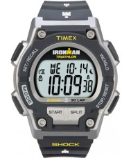 Timex T5K195 メンズグレーアイアンマンショック30ラップスポーツウォッチに抵抗