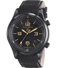 Elliot Brown 202-008-L11 メンズブラックレザーストラップの腕時計をcanford
