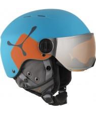 Cebe CBH209 火の玉ジュニアブルーオレンジスキーヘルメット -  49〜54センチメートル